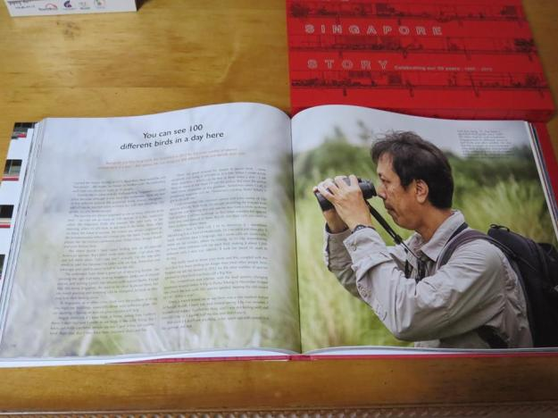 Bird guide Lim Kim Seng holds the record set in 2012 for the most number of species spotted here in a year – 265 species. He can recognise 350 different birds and identify their calls